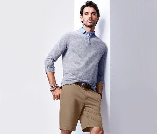 5e00123e04 A pamut-twill anyagú, három színben kapható chino rövidnadrág olyan tavaszi  alapdarab, ami nem hiányozhat egyetlen olyan férfi ruhatárából sem, ...